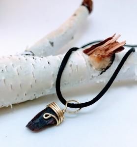 Garnet Gold Wire Pendant, Gemstone Pendant, Raw Garnet Pendant, Gemstone Necklace, Garnet Necklace