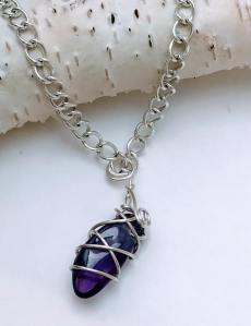 Mini Amethyst Necklace $15