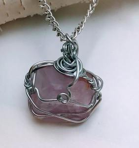 Natural Stone Necklaces Amethyst Pendant Necklace $28