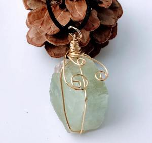 Green Calcite Necklace $29