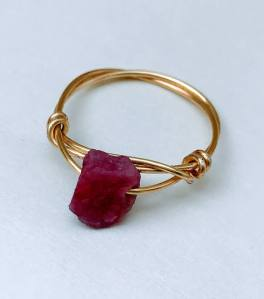 Natural Stone Ring Ruby $36