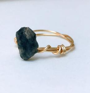 Natural Stone Ring Sapphire $36