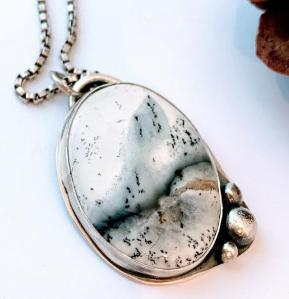 Dendrite Opal Necklace $95 natural stone necklace