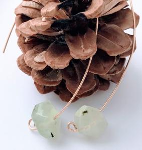 Prehnite Threader Earrings $30