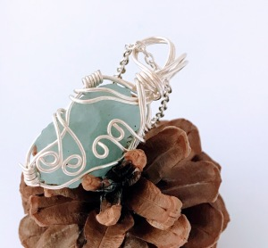 Raw Aquamarine Necklace $35